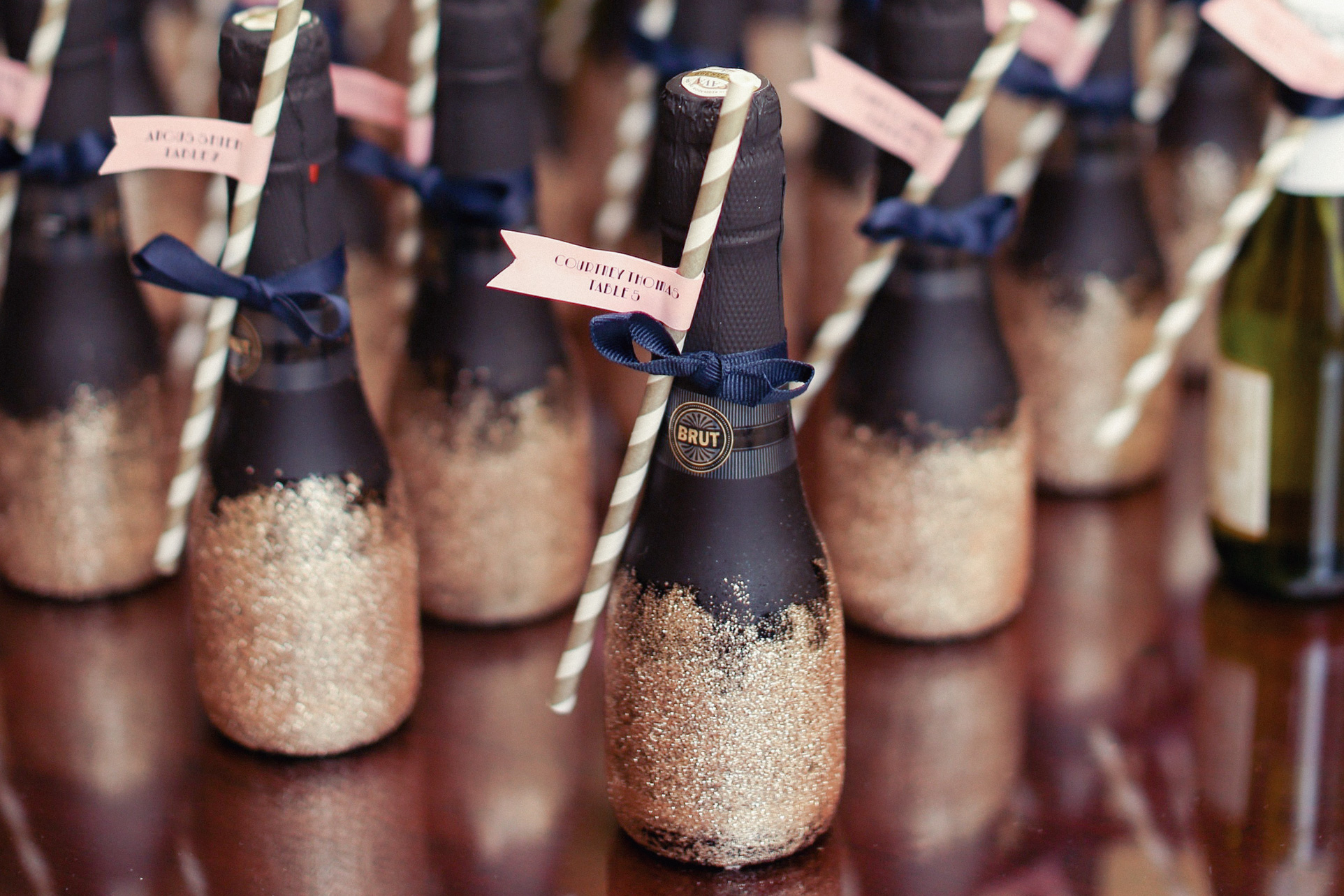 Wedding favors placed elegantly on a table top